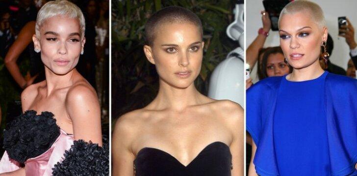 9 gražios moterys, kurios nusiskuto galvą plikai