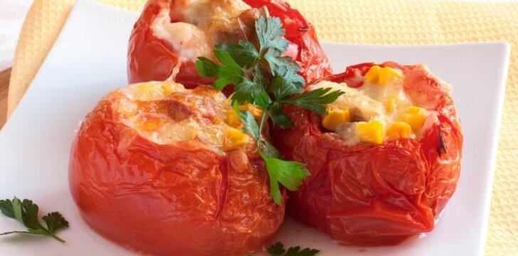 Kepti pomidorai su parmezanu