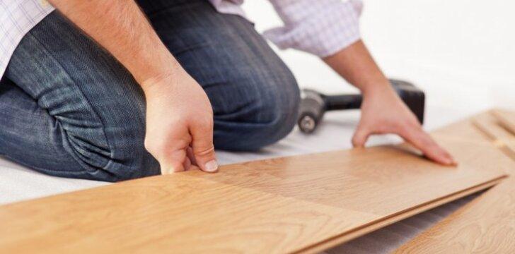 grindų klojimas