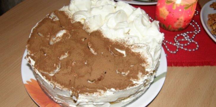 Maskarponės sūrio tortas Juoda - Balta