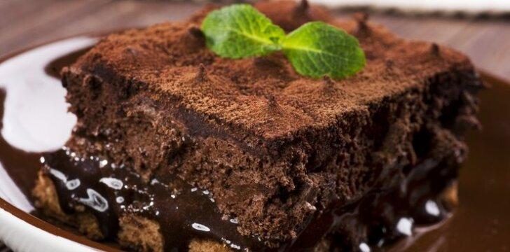 Meksikietiškas šokoladinis tortas be miltų
