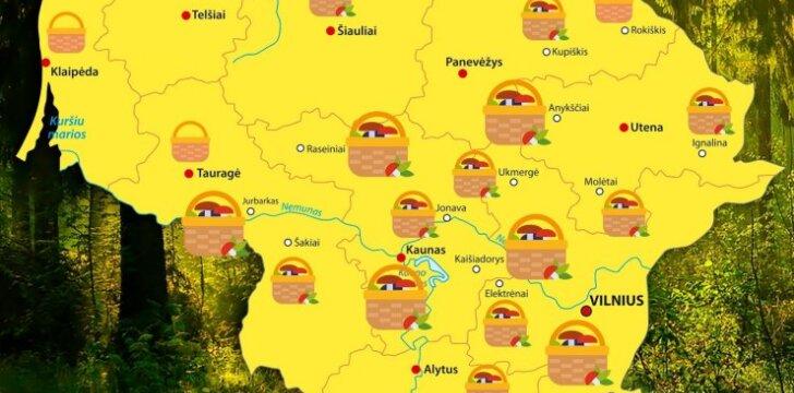 Lietuvos grybų žemėlapis