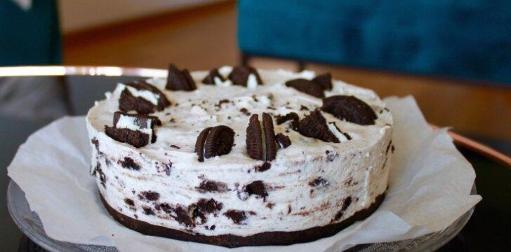Varškės ir maskarponės pyragas