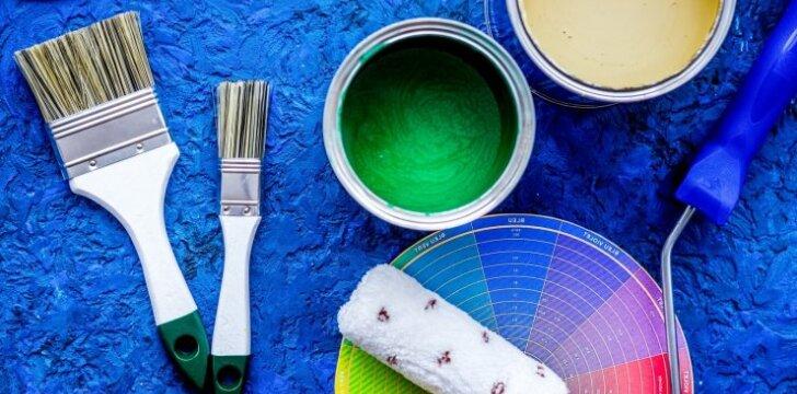 Sienų dažymas: svarbiausi darbo įrankiai