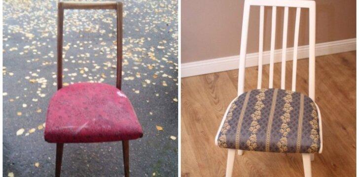 """<span style=""""color: #ff7f00;"""">Darau pats:</span> kaip atnaujinti kėdžių komplektą vos už 25 eurus"""