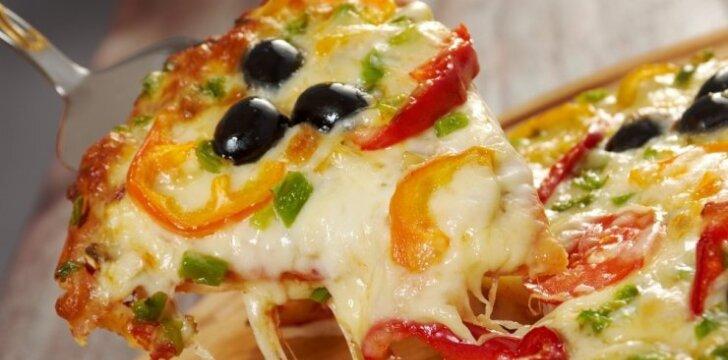 Česnakinė pica su mocarela