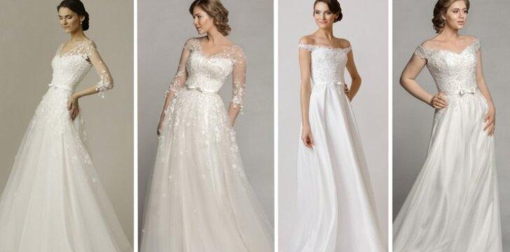 Kaip ta pati suknelė atrodo ant XS ir L dydžio modelių