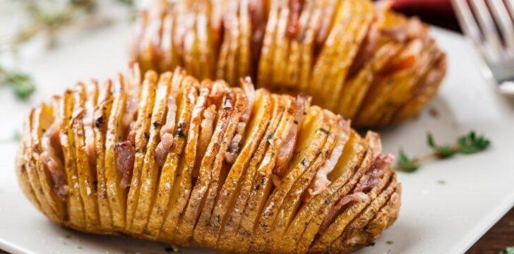 """Keptos bulvių """"armonikos"""""""