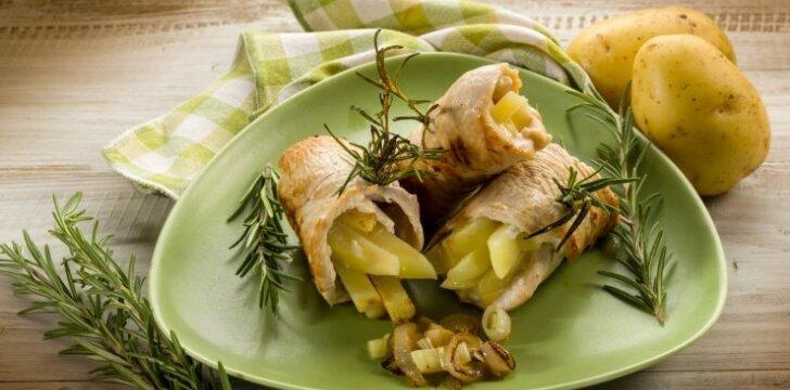 Tobuli vištienos suktinukai su bulvėmis