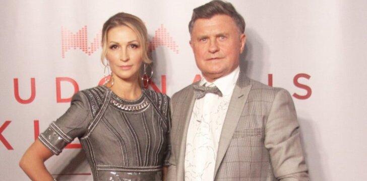 Daina Bosas su sutuoktiniu Antanu Bosu M.A.M.A. apdovanojimuose