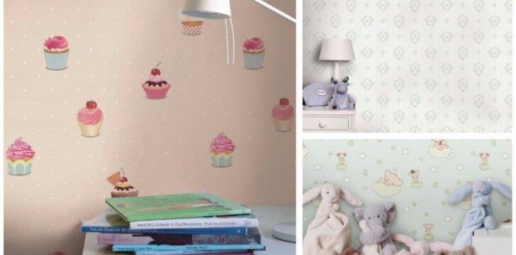 Vaiko kambarys: patarimai, kaip išsirinkti saugius tapetus