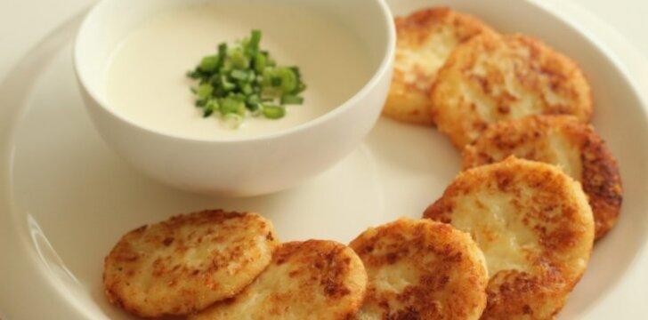 Trintų bulvių blynai su Džiugo sūriu