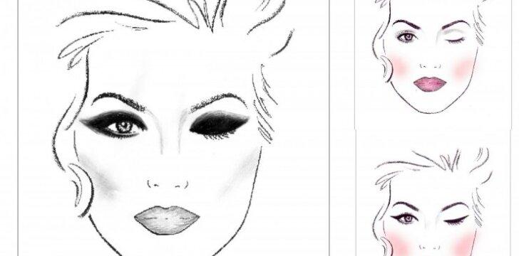 Vienas akių pieštukas - trys skirtingi makiažai