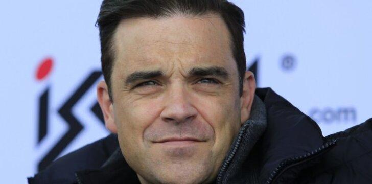 """Tėčiu vėl tapęs Robbie Williamsas filmavo gimdančią žmoną ir viską paviešino <sup style=""""color: #ff0000;"""">VIDEO</sup>"""