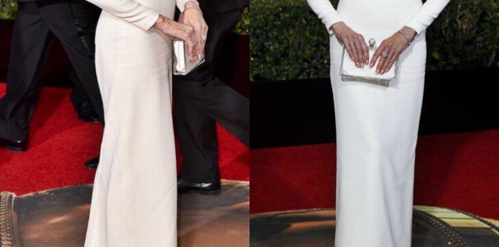 """Didžiausio dėmesio sulaukusi AUKSINIŲ GAUBLIŲ suknelė <sup><span style=""""color: #ff0000;""""><strong>FOTO</strong></span></sup>"""
