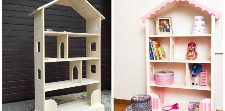 """<span style=""""color: #ff7f00;"""">Darau pats:</span> lėlių namas ir/ar knygų lentyna"""