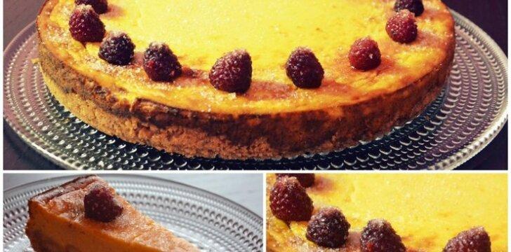 Moliūginis varškės pyragas