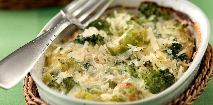 Brokolių ir sūrio apkepas