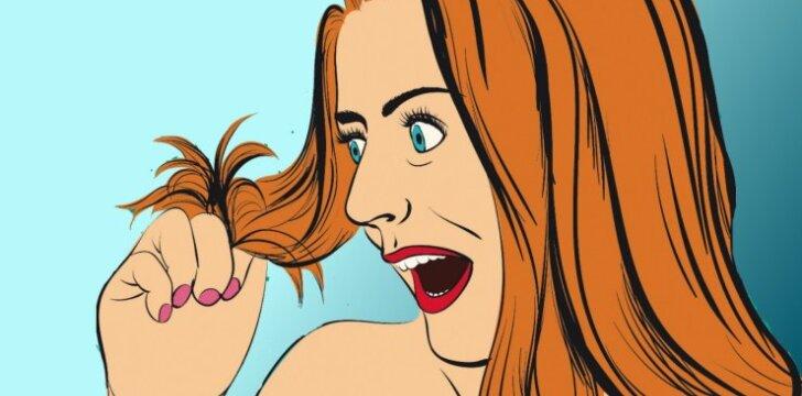 """Netikėtas testas. <span style=""""color: #c00000;"""">Per vieną sekundę</span> pasitikrink, ar tavo plaukai sveiki"""