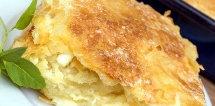 Greitas 4 sūrių pyragas iškylai