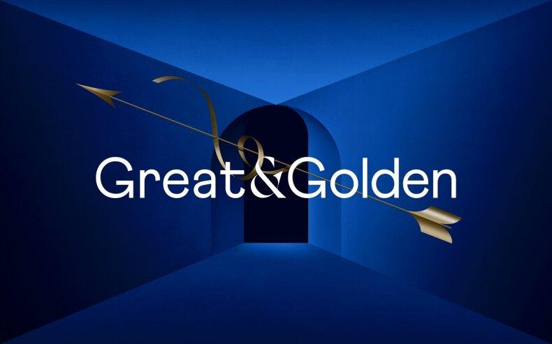 """Great&Golden"" logotipas"