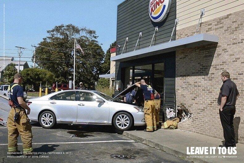 """""""Burger King"""" reklamai panaudojo tikrų avarijų nuotraukas"""