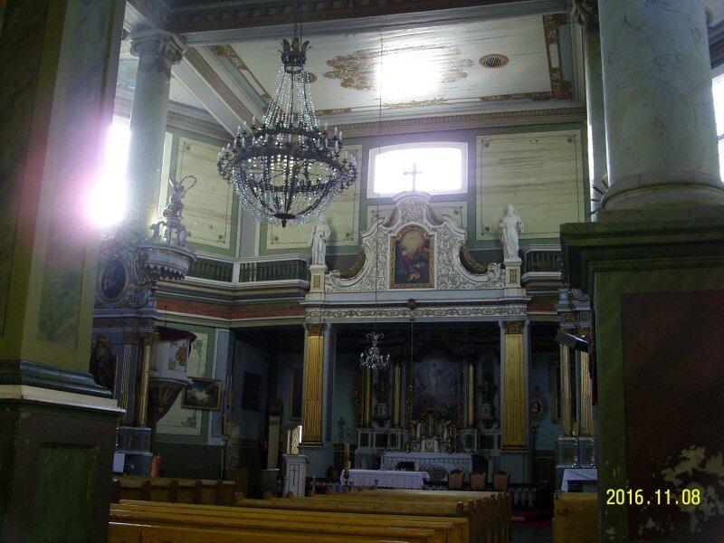 Kristaus Atsimainymo bažnyčios Griškabūdyje interjeras