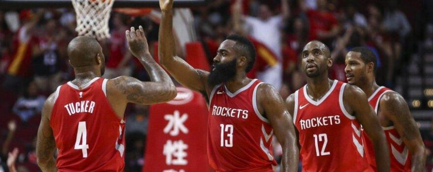 "NBA čempionato rungtynės: ""San Antonio Spurs"" - ""Houston Rockets"""