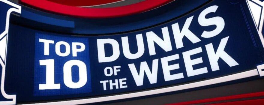 Gražiausių NBA savaitės dėjimų Top-10 viršūnėje atsidūrė Sabonio skrydis per Embiidą