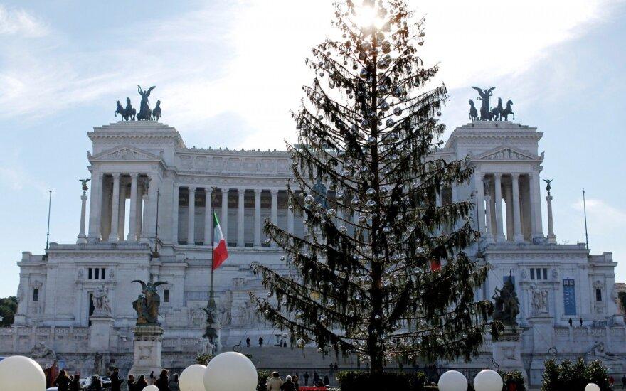 Romos valdžia reikalaus kompensacijos už nudžiūvusią Kalėdų eglę