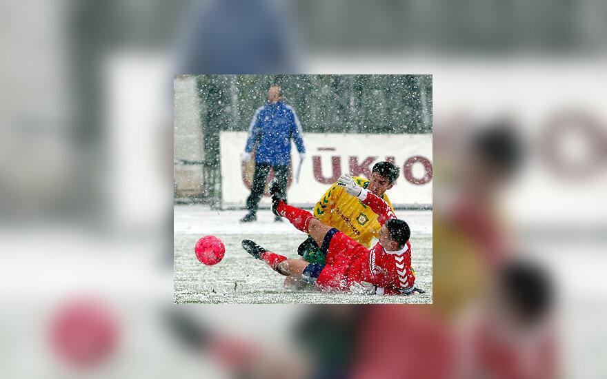"""Futbolas, Kauno FBK """"Kaunas"""" ir Panevėžio """"Ekranas"""""""
