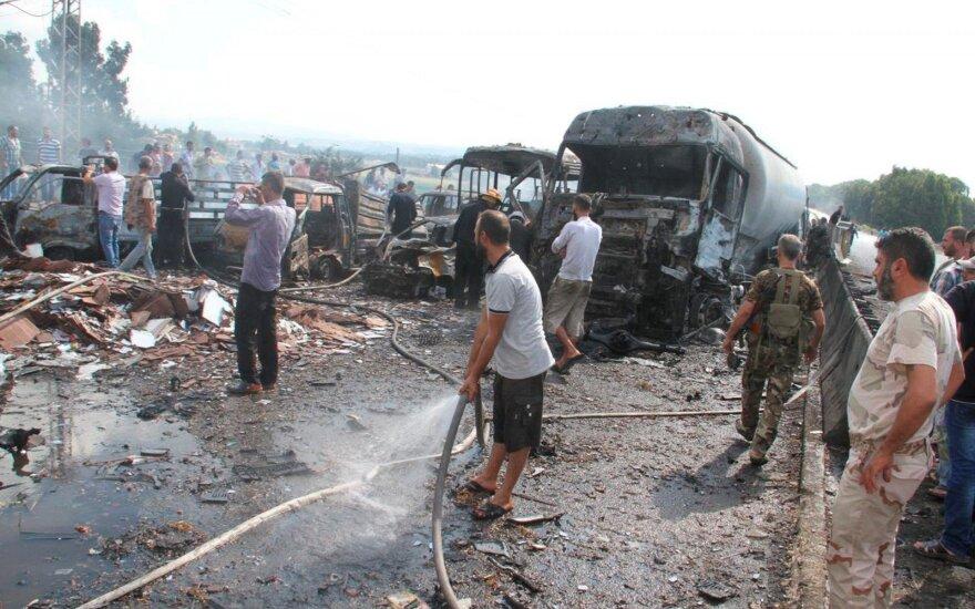Sirijoje nugriaudėjo virtinė sprogimų, žuvo mažiausiai 48 žmonės