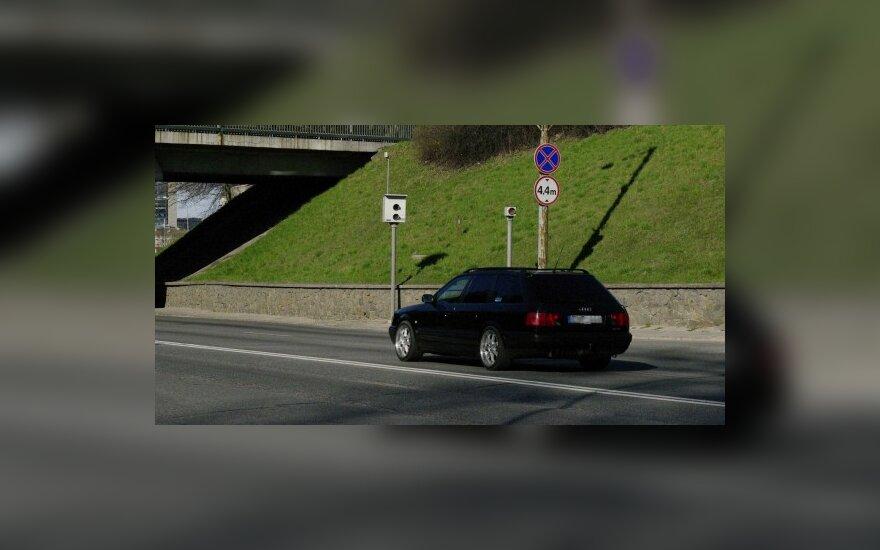 Per savaitę Vilniuje užfiksuoti 593 greičio mėgėjai