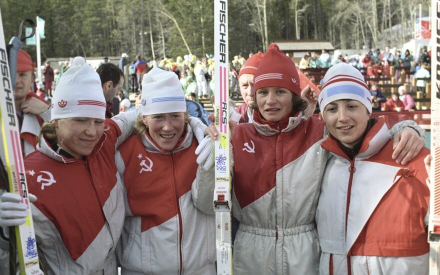 Anfisa Rezcova, Tamara Tichonova, Svetlana Nagaikina ir Nina Gavriliuk  (1988 m)