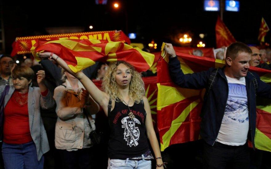 REferendumo dėl vardo keitimo Makedonijoje priešininkai