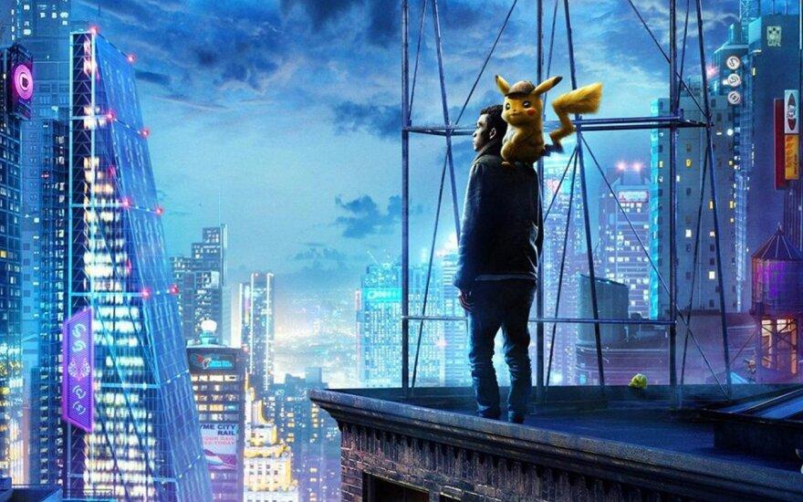 """Kadras iš filmo """"Pokemon: detektyvas Pikachu"""""""