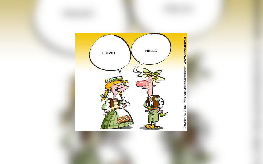 Kalba, identitetas, tauta, lietuvybė, karikatūra