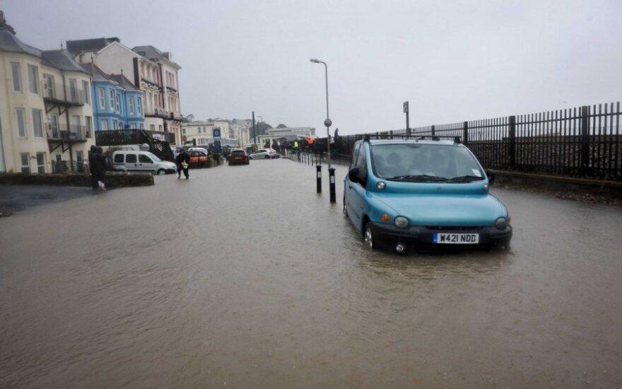 Potvyniai Anglijoje