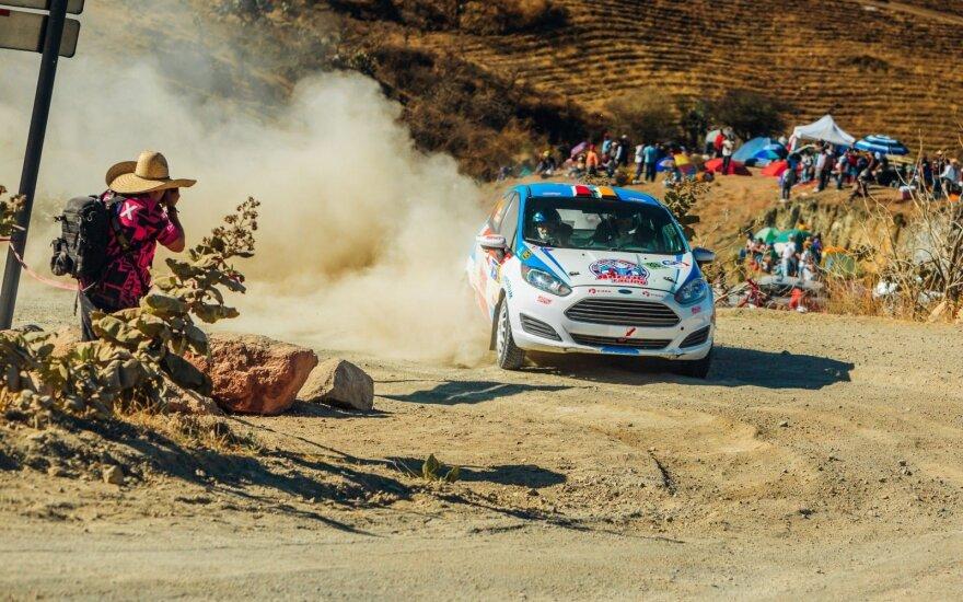 WRC Meksikos ralio finišą puikiai kovojusiems lietuviams apkartino techninės problemos
