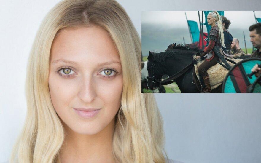 """Kadras iš serialo """"Vikingai"""", aktorė Georgia Hirst"""