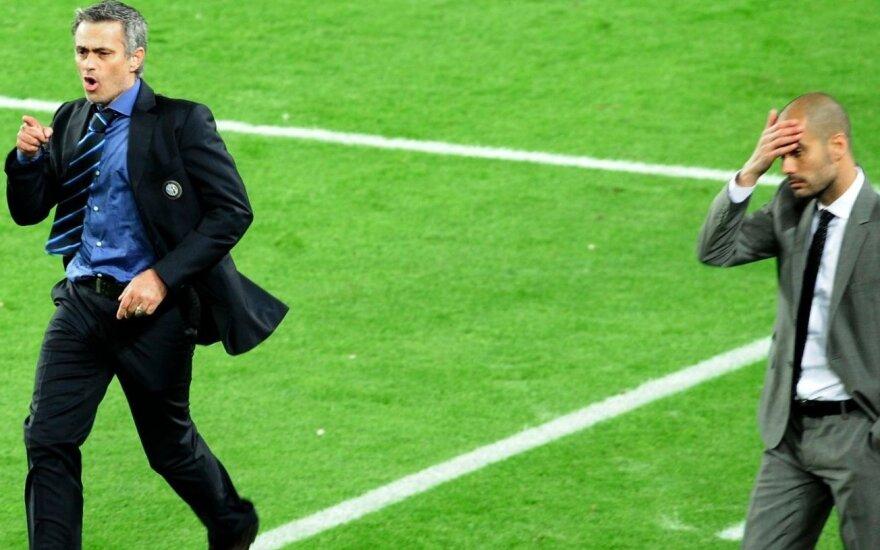 Jose Mourinho ir Josepas Guardiola