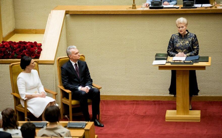 Grybauskaitės žinia Nausėdai: šeimai teks prisiimti tą pačią atsakomybę 24 valandas ir septynias dienas per savaitę