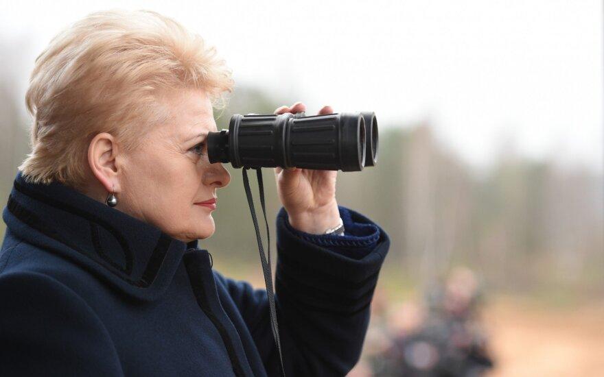 President Dalia Grybauskaitė on look out