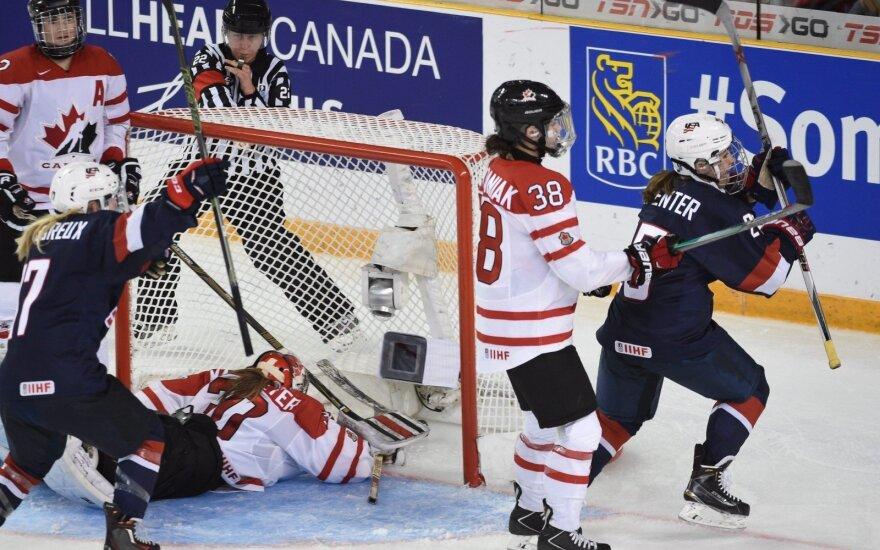 Pasaulio moterų ledo ritulio čempionato auksas – JAV rinktinei, bronza – Rusijai