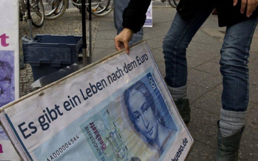 Euro zonos skolų krizė moko bankus atsargumo