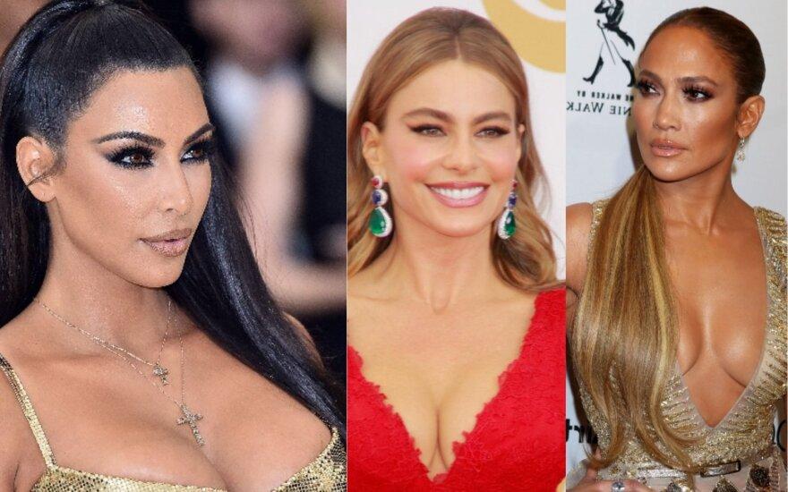 Kim Kardashian, Sofia Vergara, Jennifer Lopez