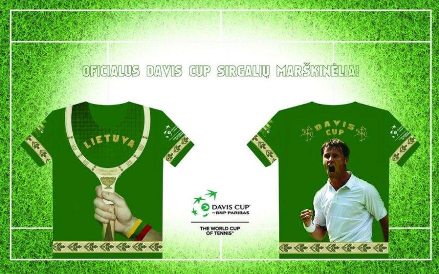 Lietuvos teniso rinktinės aistruolių marškinėliai
