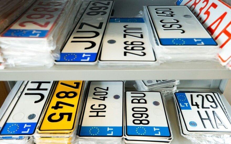 Valstybinio registracijos numerio ženklai