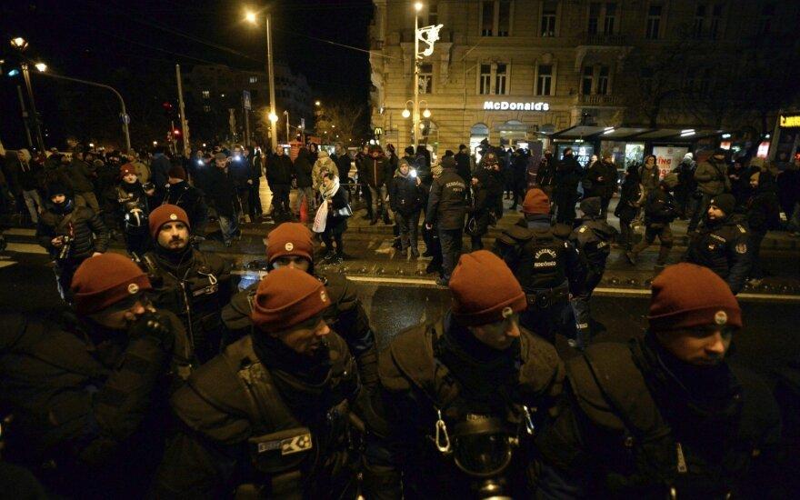Protestai Budapešte
