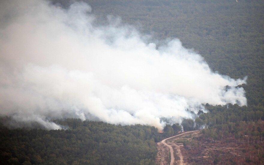 Netoli Berlyno kilęs didžiulis miško gaisras lokalizuotas, bet pavojus išlieka